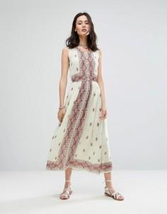 Платье макси без рукавов с принтом Raga Endless Love - Белый