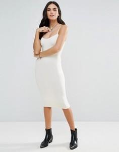 Бесшовное платье-комбинация миди Free People - Кремовый