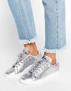 Серебристые кроссовки adidas Originals Stan Smith - Серебряный