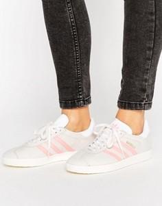 Серо-розовые кроссовки adidas Originals Gazelle - Белый