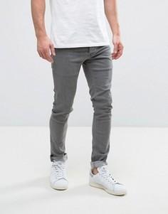 Выбеленные серые джинсы скинни Solid - Серый