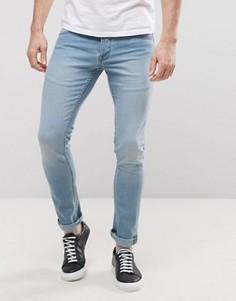 Светлые зауженные джинсы Solid - Синий