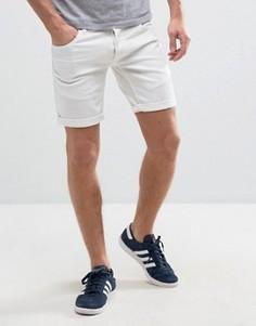 Рваные узкие джинсовые шорты Solid - Белый