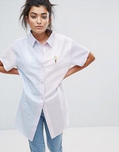 Рубашка в тонкую полоску Lazy Oaf Sorbet - Мульти