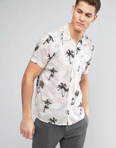 Рубашка с пальмами D-Struct - Белый