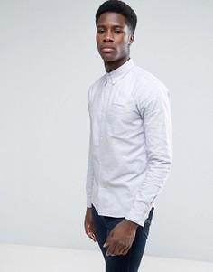Хлопковая оксфордская рубашка с длинными рукавами D-Struct - Синий