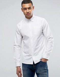 Хлопковая оксфордская рубашка с длинными рукавами D-Struct - Белый