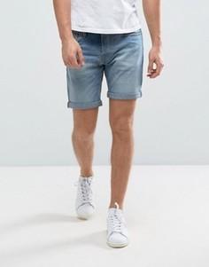 Джинсовые шорты слим Selected Homme - Синий