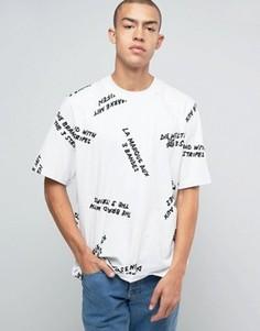 Белая футболка с принтом adidas Originals New York Pack BJ9935 - Белый