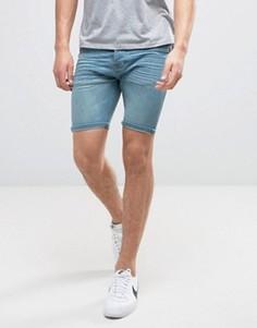 Светлые джинсовые шорты с потертостями Brave Soul - Синий