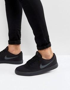 Черные парусиновые кроссовки Nike SB Check Solar 843896-002 - Черный