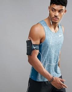 Синяя майка Nike Running Miler Breathe 834238-411 - Синий
