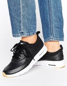 Черные кроссовки-премиум с эффектом кожи рептилии Nike Air Max Thea - Черный