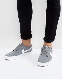 Серые кроссовки Nike SB Portmore II SS 880266-010 - Серый