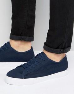 Темно-синие сетчатые кеды на шнуровке ASOS - Темно-синий