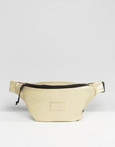 Золотистая сумка-кошелек на пояс из искусственной кожи ASOS - Золотой