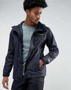 Черная непромокаемая куртка с капюшоном Columbia Pouring Adventure - Черный