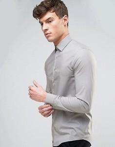 Светло-серая рубашка скинни Calvin Klein - Серый