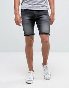Темно-серые выбеленные узкие джинсовые шорты Tommy Hilfiger Denim Scanton - Синий