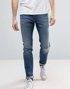Эластичные джинсы скинни с выбеленной отделкой Tommy Hilfiger Denim - Синий