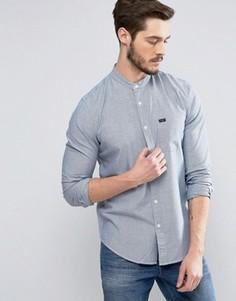 Синяя рубашка в рабочем стиле с воротником-стойкой Lee - Синий