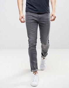 Серые выбеленные зауженные джинсы LDN DNM - Серый