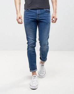 Зауженные джинсы цвета индиго LDN DNM - Синий
