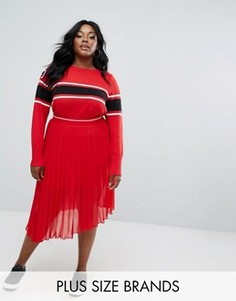 Шифоновая юбка плиссе Elvi - Красный