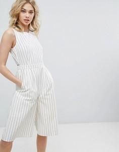 Комбинезон в полоску с открытой спиной и юбкой-шортами Vero Moda - Мульти