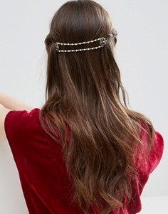 Нарядное украшение для волос в винтажном стиле с бусинами ASOS - Золотой