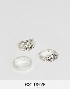 3 кольца в этническом стиле DesignB London - Серебряный
