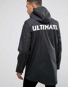 Водонепроницаемая куртка с капюшоном и принтом на спине D-Struct - Черный