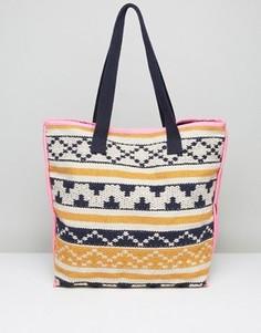 Пляжная сумка-тоут Pieces - Мульти
