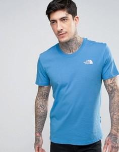 Ярко-голубая футболка The North Face Simple Dome - Синий