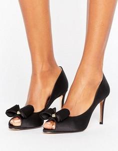 Туфли-лодочки с открытым носком и бантиками Ted Baker Alifair - Черный