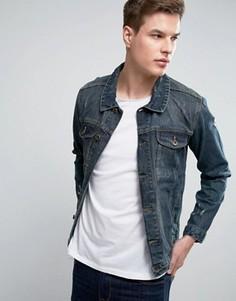 Джинсовая куртка в винтажном стиле Threadbare - Синий