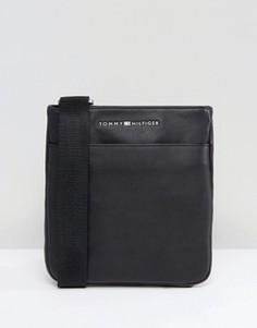 Черная сумка из искусственной кожи Tommy Hilfiger - Черный