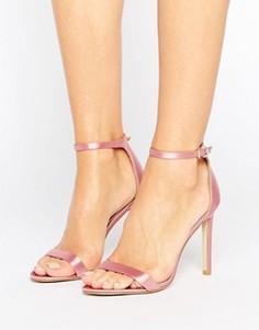 Атласные сандалии на каблуке Public Desire Avril - Розовый