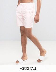 Розовые шорты для плавания средней длины ASOS TALL - Розовый