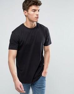 Длинная футболка Solid - Черный