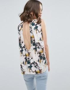 Рубашка без рукавов с цветочным принтом Mbym - Белый