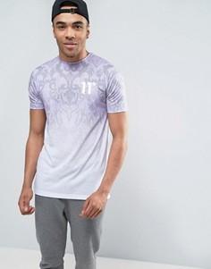 Фиолетовая футболка с барочным принтом и эффектом деграде 11 Degrees - Фиолетовый