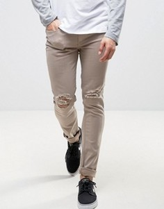 Серо-бежевые джинсы скинни Kubban - Коричневый