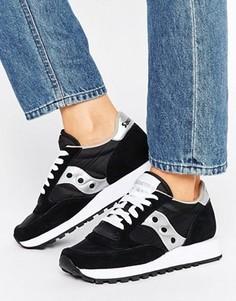 Черно-белые кроссовки Saucony Jazz Original - Черный