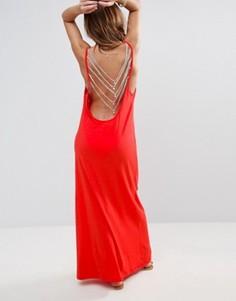Пляжное платье с открытой спинкой Pitusa - Красный