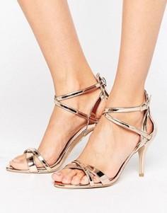 Босоножки на каблуке цвета розового золота Carvela Gareth - Медный