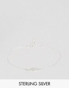 Серебрянный браслет с подвеской-амулетом хамса ASOS - Серебряный
