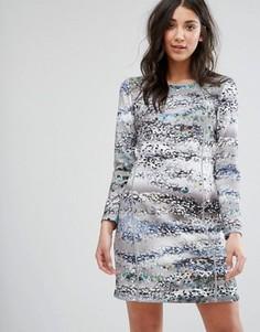 Цельнокройное платье с принтом и рукавами 3/4 Lavand - Мульти