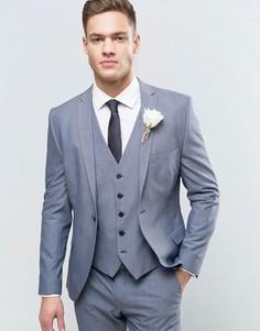 Супероблегающий пиджак Selected Homme Wedding - Синий
