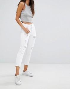 Рваные джинсы в винтажном стиле New Look - Белый